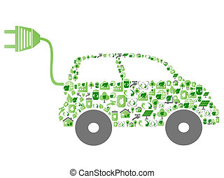 Green Öko Muster Icon Auto.