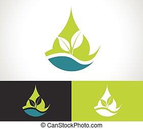 Green-Ökoblatt-Ikone.