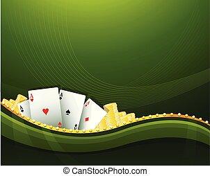 Green Casino Spiel Hintergrundelemente.