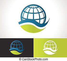 Green Eco Globe Ikone.
