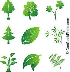 Green eco Icons.