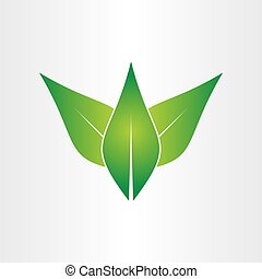 Green lässt Öko-Konzept Icon Design.