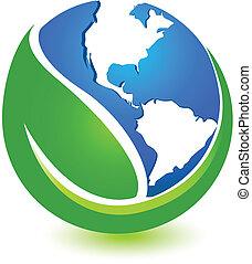 Green World Logo Design.