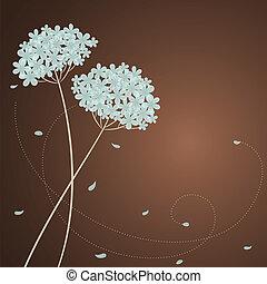 Greeting-Karte mit blauem Hortensien