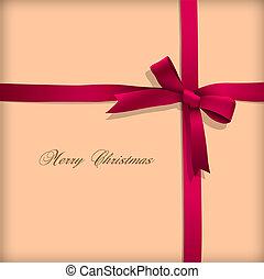 Greeting-Karte mit rosa Bogen