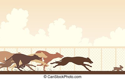 Greyhound Hunderennen.