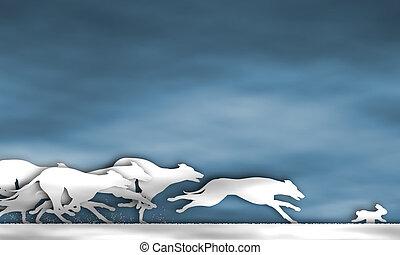 Greyhound Race Cutout.