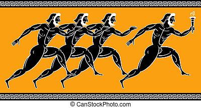 Griechische Läufer