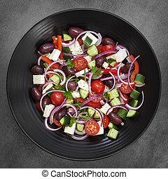Griechischer Salatüberschuss