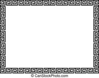 Griechischer Stil, schwarzer Dekorationsrahmen