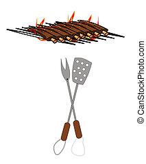 grill, rippen