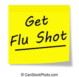 grippe- schuß, bekommen