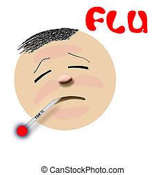 Grippeopfer Illustration