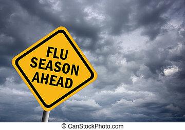 Grippezeit voraus.