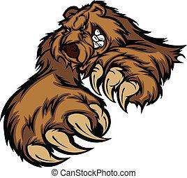 Grizzlybär-Maskottchen-Körper mit Pfoten