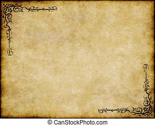 groß, altes , beschaffenheit, papier, design, hintergrund, aufwendig, pergament