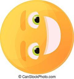 groß, karikatur, lächeln, stil, ikone, emoticon