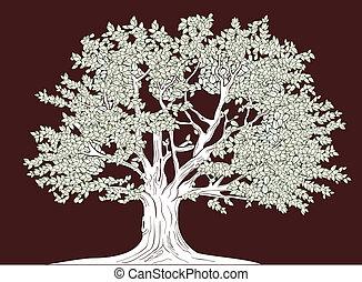 Große Baumvektorzeichnung