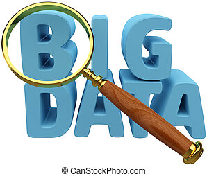 Große Daten finden eine Informationsanalyse.