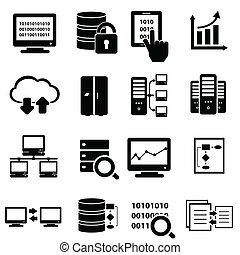 Große Daten-Icon-Sets