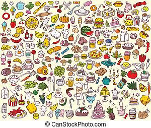 Große Essens- und Küchensammlung