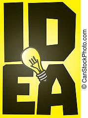 Große Idee mit Glühbirne.