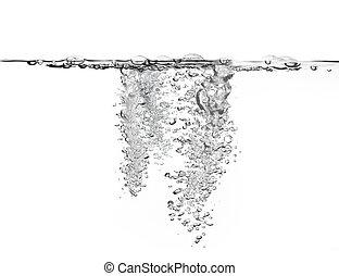 Große Luftblasen im Wasser