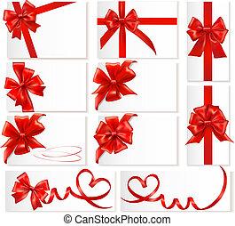 Große rote Geschenkbögen