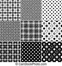 Große Sammlung nahtloser Muster