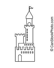 Große Schloss-Ikone.