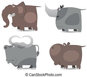 Große, wilde Tiere