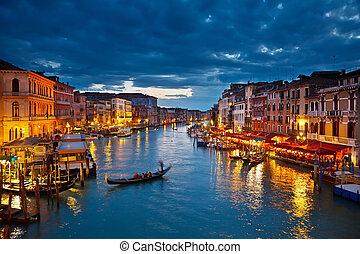 Großer Kanal in der Nacht, venice