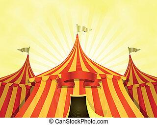Großer Zirkus Hintergrund mit Banner.