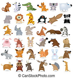Großes Cartoon-Tier