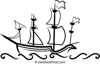 Großes englisches Schiff