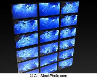Großes Fernsehbild