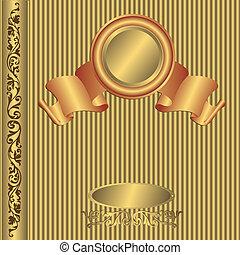 Großes goldenes Fotoalbum (Vector)