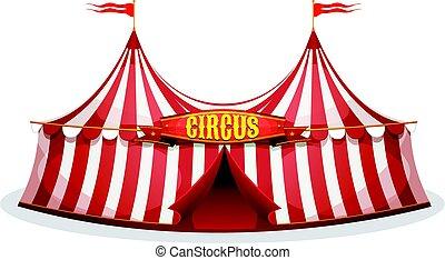 Großes Zirkuszelt.