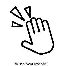 grobdarstellung, krämpfe, white., illustration., wohnung, schmerz, vektor, hand, schwarz, weißes, handgelenk, freigestellt, oder, einfache , icon.