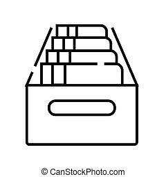 grobdarstellung, linie, vektor, zeichen, abbildung, linear, archiv, symbol., begriff, ikone