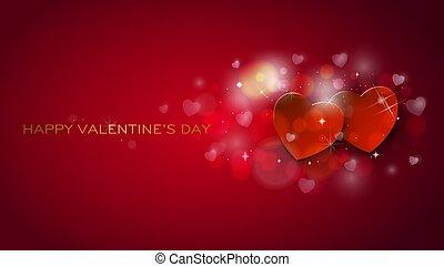 Grußkarte. Fröhliche Valentins-Tage voller Herzen
