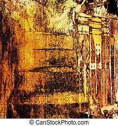 Grunge abstrakten Hintergrund mit einem schmutzigen Bild für Design