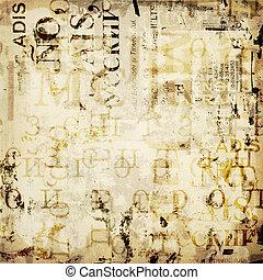Grunge abstrakter Hintergrund mit alten zerrissenen Postern