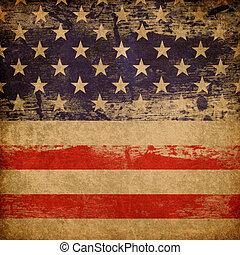 Grunge amerikanischer patriotischer Hintergrund.