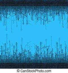 Grunge blue splash Hintergrund.