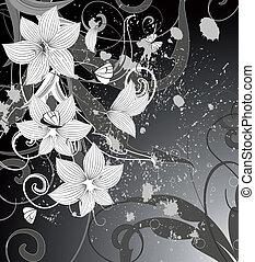 Grunge Floral Hintergrund.