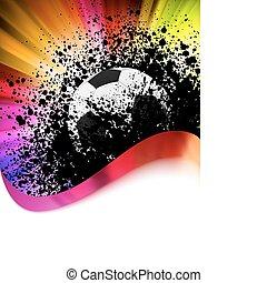Grunge Football-Poster mit Fußball. EPS 8