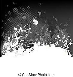Grunge-Foral-Hintergrund