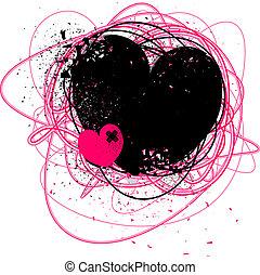 Grunge gebrochenes Herz