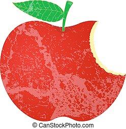 Grunge hat Apfelform gegessen.